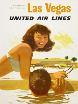 las vegas united air lines (1960s)-usa-60x90