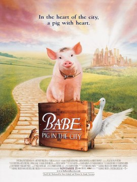 Babe pig in the city-60x90