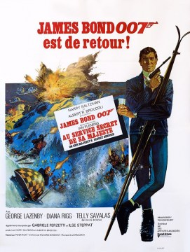 James Bond au service de sa majestee-60x80